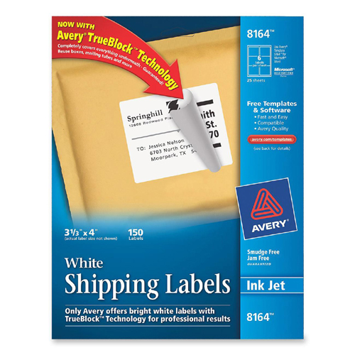 Large Mailing Labels Avery White Mailing Labels 8164 Ave8164