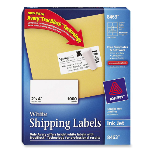 Avery Mailing Label 8463 AVE8463 – Large Mailing Labels