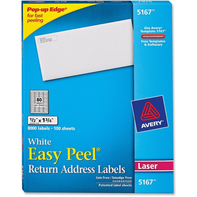 Avery Easy Peel Address Label 5167
