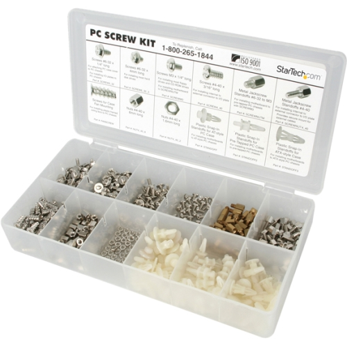 StarTech.com PC Screw Kit - Screw Nuts and Standoffs PCSCREWKIT