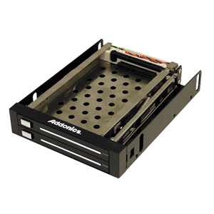 Addonics Snap-In Double Drive Mobile Rack AE25SNAP2SA