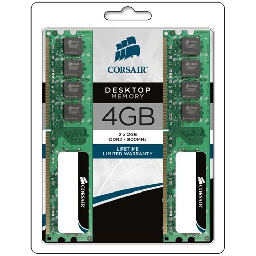 Corsair Value Select 4GB DDR2 SDRAM Memory Module VS4GBKIT800D2