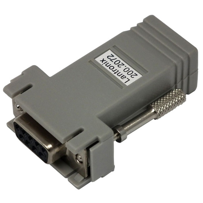 RJ45 to DB9 Female Serial RS232 Modular Adapter - Gray