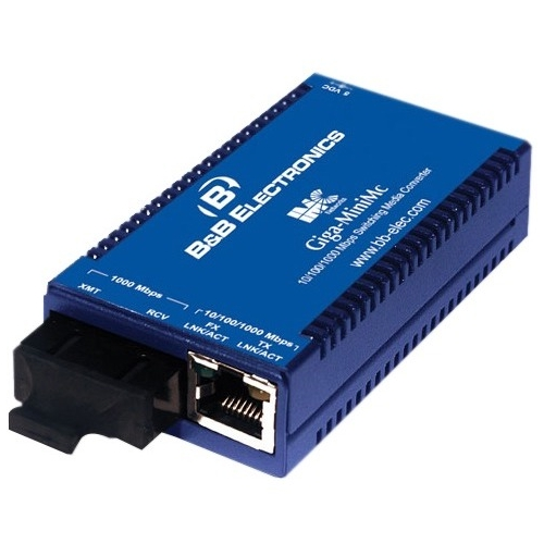 B+B Smallest, Most Reliable Gigabit Switching Media Converter 856-10735