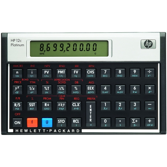 HP Financial Calculator F2231AA#ABA 12c Platinum