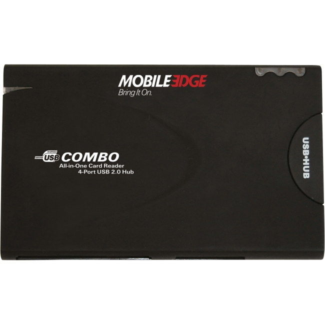 Mobile Edge All-In-One USB 2.0 Card Reader and 3-Port Hub MEAHR2