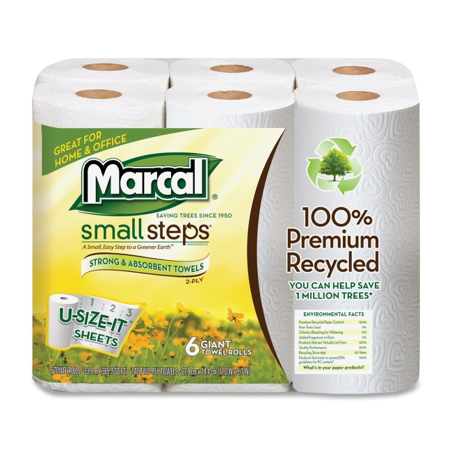 Marcal Paper Mills 2 Ply Quilted Roll Paper Towel 6181PK MRC6181PK