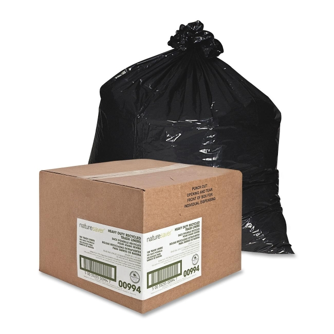 Nature Saver Heavy Duty Recycled Trash Liner 00994 NAT00994