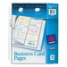 Untabbed Business Card Pages Avery Dennison 76009 AVE76009 Business Card Refills