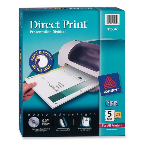 Direct Print Custom Laser Divider Avery Dennison 11534 AVE11534