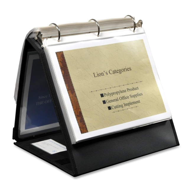 Lion Office Products Insta-Cover Ring Easel Binder 40009BK LIO40009BK