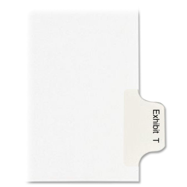 Avery Legal Exhibit Index Divider 82126 AVE82126