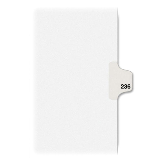 Avery Individual Side Tab Legal Exhibit Dividers 82452 AVE82452