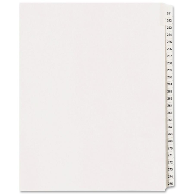 Avery Side Tab Collated Legal Index Dividers 82193 AVE82193