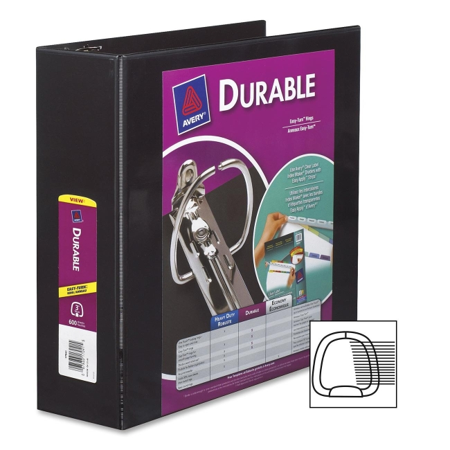 Avery Durable Reference View Ring Binder 17041 AVE17041