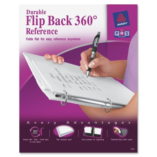 Avery Flip Back Reference View Binder 17580 AVE17580