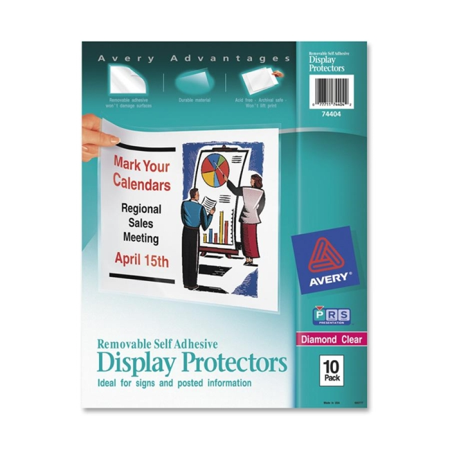 Avery Removable Self Adhesive Display Protector 74404 AVE74404