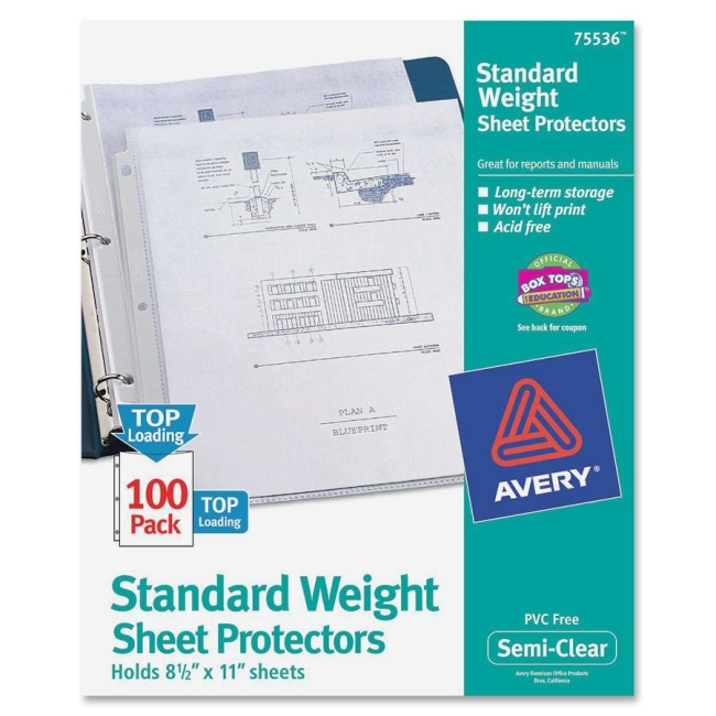 Avery Non-Stick Sheet Protector 75536 AVE75536