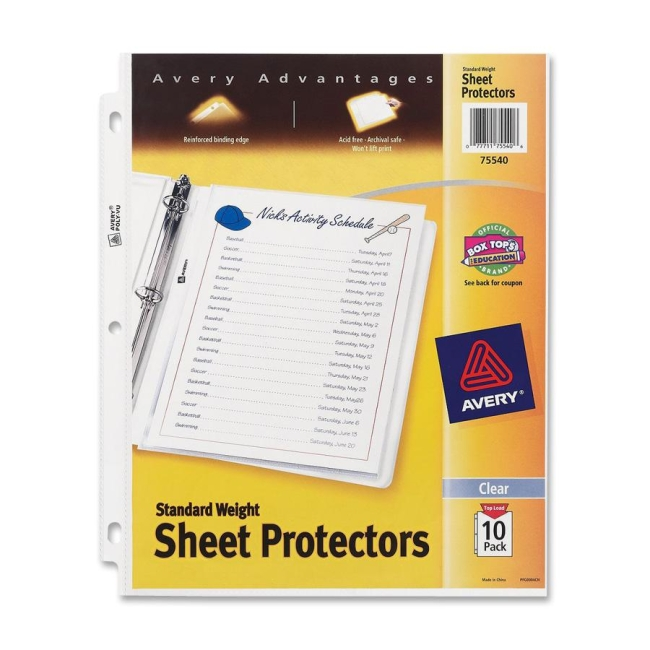Avery Standard Weight Sheet Protector 75540 AVE75540