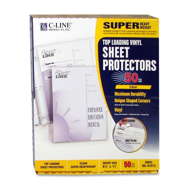 C-Line Vinyl Top Loading Sheet Protector 61013 CLI61013