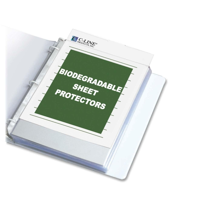 C-Line Biodegradable Sheet Protector 62607 CLI62607