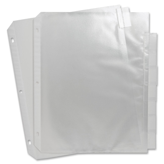 Sparco Top Loading Sheet Protectors with Index Tab 74161 SPR74161