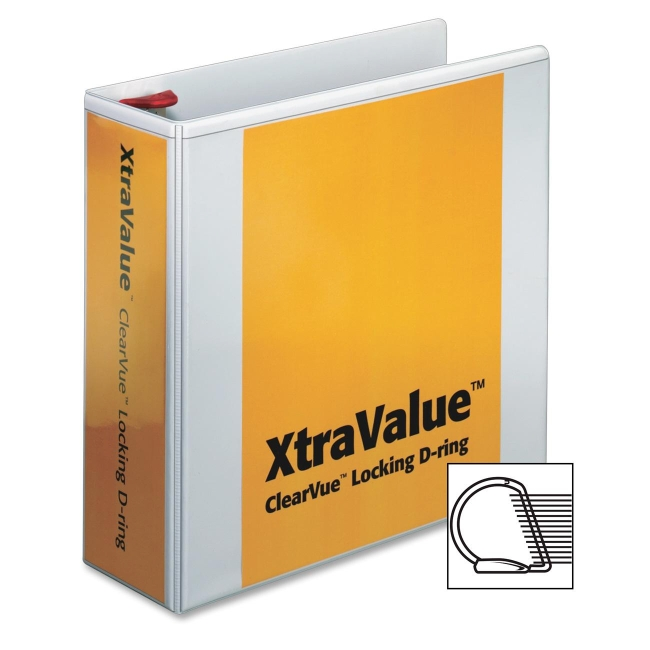 Globe-Weis ClearVue XtraValue Locking D-Ring Binder 19050 CRD19050