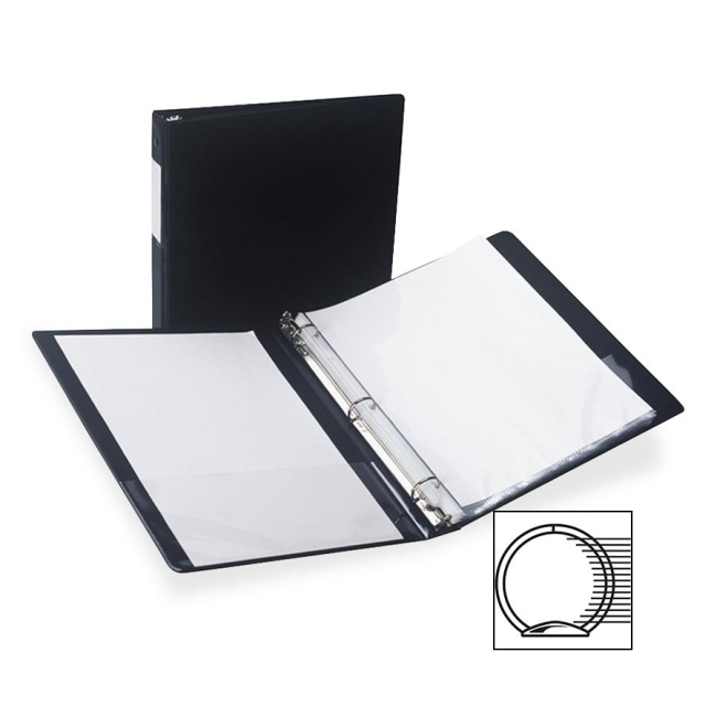 Samsill Antimicrobial Locking Round Ring Binder 14350 SAM14350