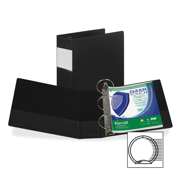 Samsill Antimicrobial Locking Round Ring Binder 14390 SAM14390