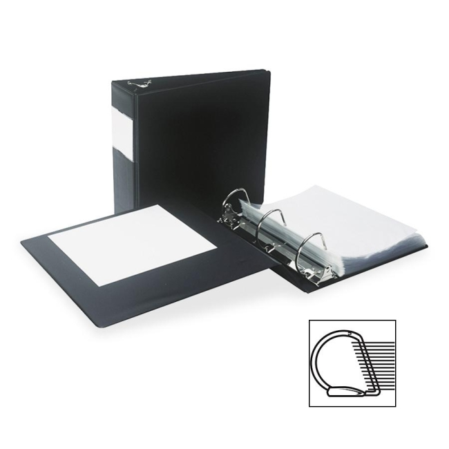 Samsill Antimicrobial D-Ring Binder With Label Holder 16380 SAM16380