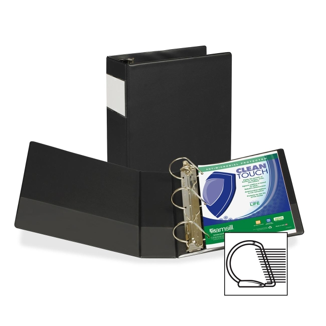 Samsill Antimicrobial D-Ring Binder With Label Holder 16390 SAM16390