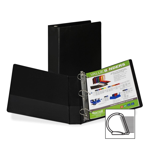Samsill Angle-D Ring Binder 16650 SAM16650