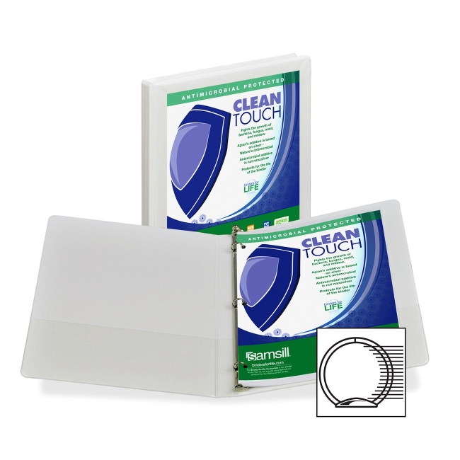Samsill Antimicrobial Insertable Round Ring Binder 18217 SAM18217