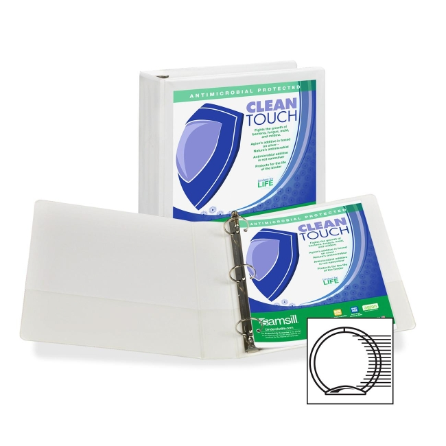 Samsill Antimicrobial Insertable Round Ring Binder 18257 SAM18257