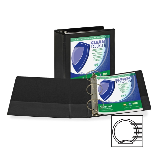 Samsill Antimicrobial Insertable Round Ring Binder 18290 SAM18290