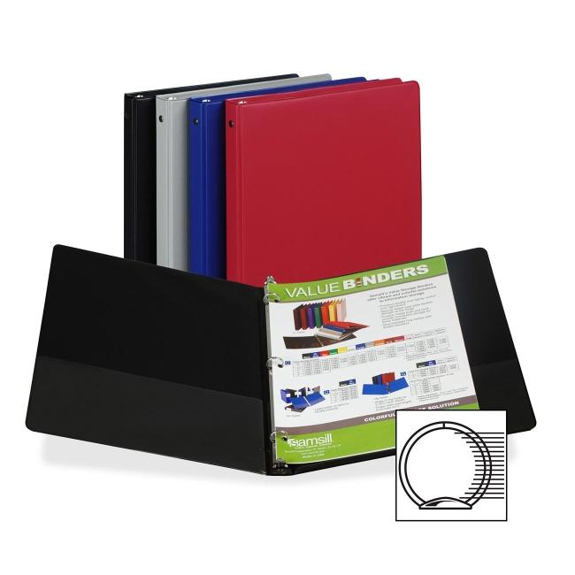 Samsill 3-Ring Vinyl Value Storage Binder 11109 SAM11109