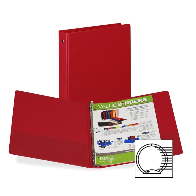 Samsill 3-Ring Vinyl Value Storage Binder 11315 SAM11315