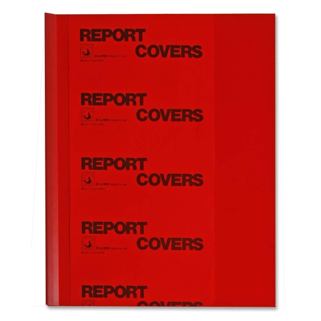 C-Line Vinyl Report Cover with Binding Bars 32554 CLI32554