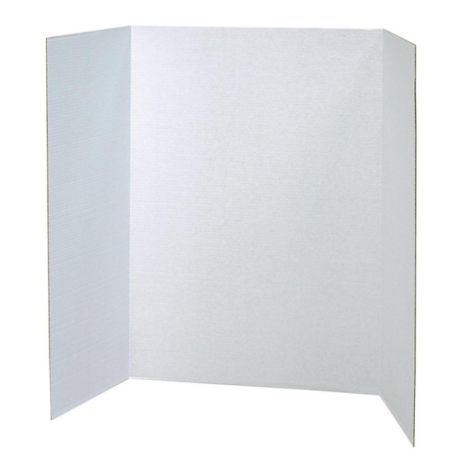 Classroom Keepers Spotlight White Headers Corrugated Presentation Board 3763 PAC3763