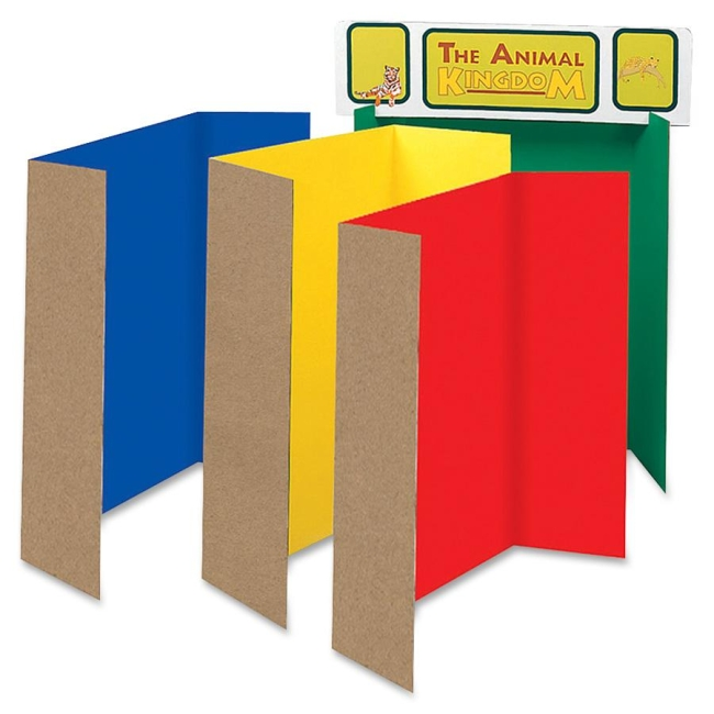 Classroom Keepers Spotlight White Headers Corrugated Presentation Board 37654 PAC37654