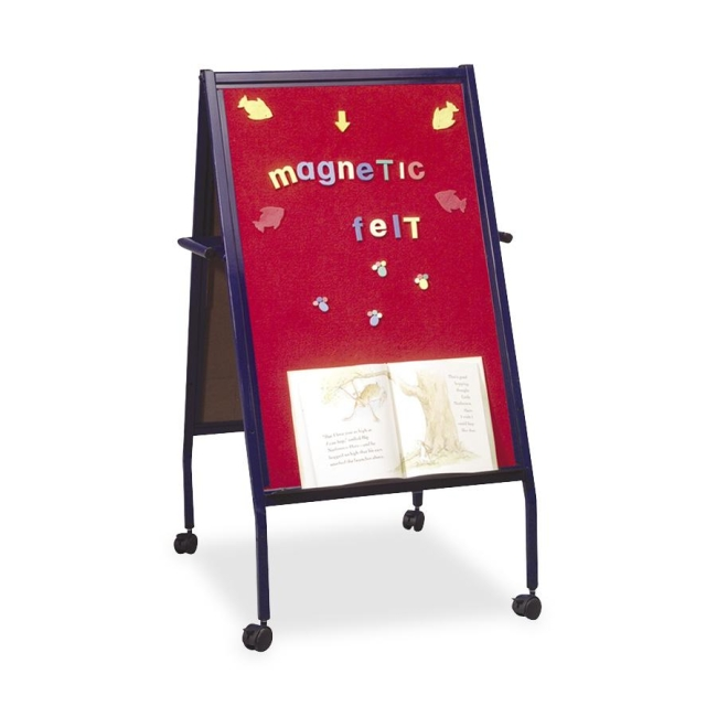 Magnetic Red Flannel Surface Easel Double-Sided Balt 33294 BLT33294