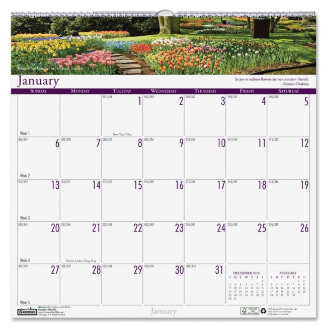 House of Doolittle Earthscapes Gardens of the World Wall Calendar 301 HOD301