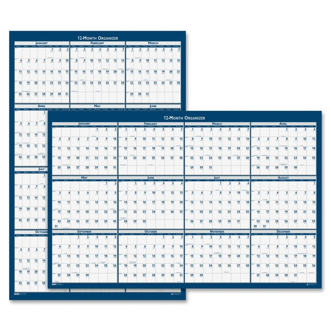 Reversible Wall Planner House of Doolittle 3961 HOD3961 Wall Planners & Organizers