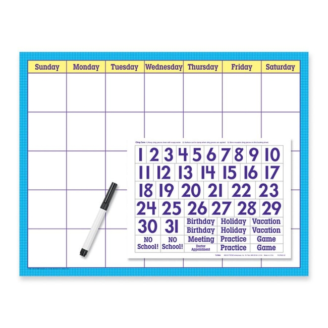 Trend Wipe-off Calendar Kit Cling Numeral T27802 TEPT27802