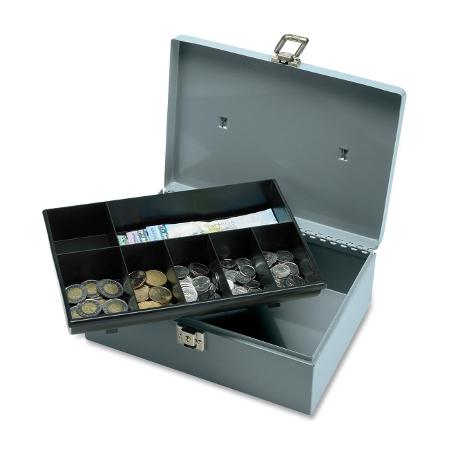 Sparco All-Steel Cash Box with Latch Lock 15501 SPR15501