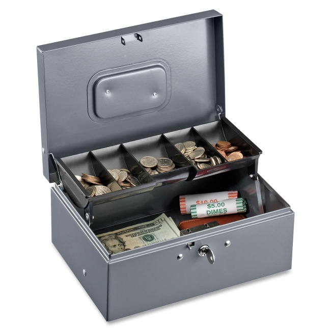 Sparco 5-Compartment Tray Cash Box 15507 SPR15507