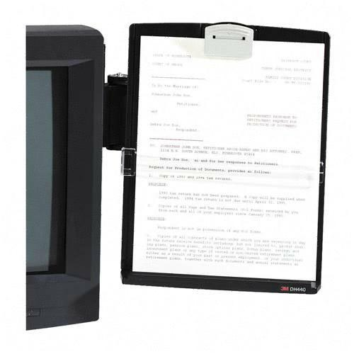 Monitor Mount Document Holder 3M DH440MB MMMDH440MB