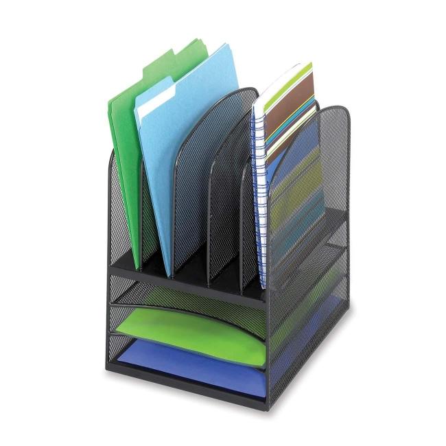 Design Ideas Mesh Letter Tray: Mesh Letter Tray Desktop Organizer Safco 3266BL SAF3266BL