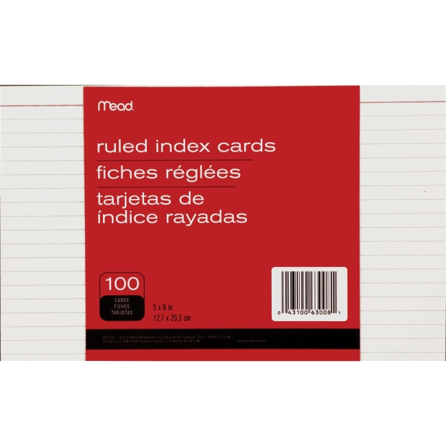 Mead Ruled Index Card 63008 MEA63008