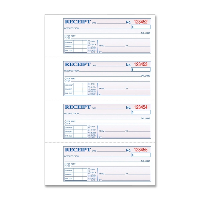 Manifold Receipt Book Tops 46806 TOP46806